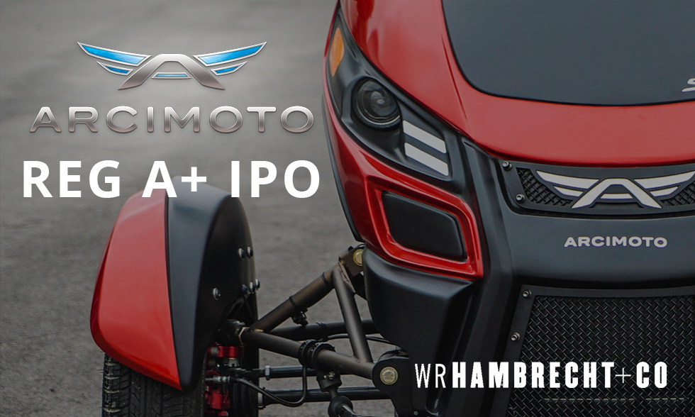 Arcimoto Files Reg+ Initial Public Offering